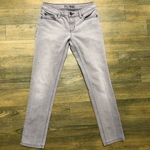 DL1961 Gray Angel Mid Rise Skinny Ankle Jean 26